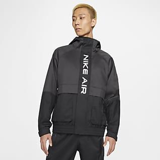 Nike Air เสื้อแจ็คเก็ตมีฮู้ดบุซับในผู้ชาย