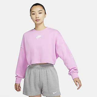 Nike Air 女子短款针织圆领上衣