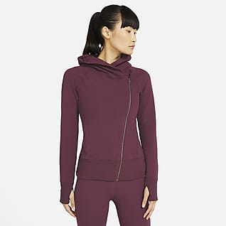 Nike Yoga เสื้อมีฮู้ดซิปยาวผู้หญิง