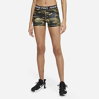 Nike Pro Dri-FIT Kamuflasjemønstret shorts til dame (8cm)