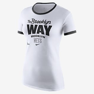 Brooklyn Nets Mantra Playera Nike Dri-FIT de la NBA para mujer