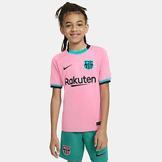 FC Barcelona 2020/21 Stadyum Üçüncü Genç Çocuk Futbol Forması