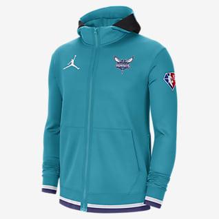 Charlotte Hornets Jordan Showtime Men's Nike Dri-FIT NBA Full-Zip Hoodie