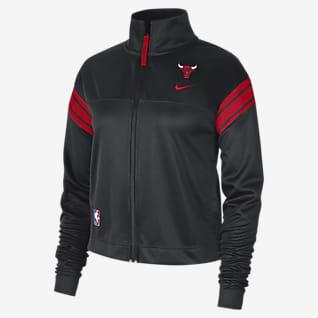 Chicago Bulls Courtside Nike NBA-Trainingsjacke für Damen