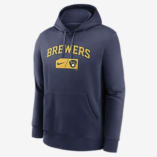 Nike Lettering Club (MLB Milwaukee Brewers) Men's Pullover Hoodie