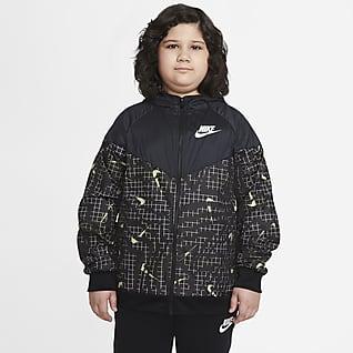 Nike Sportswear Windrunner Bunda pro větší děti (chlapce) (rozšířená velikost)