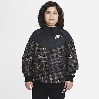 Nike Sportswear Windrunner Jakke (udvidet størrelse) til store børn (drenge)