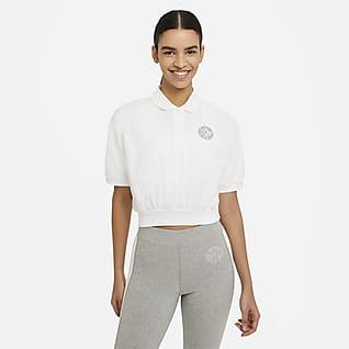 Nike Sportswear Femme Haut court à col pour Femme