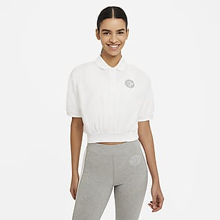 Nike Sportswear Femme Top corto con colletto - Donna