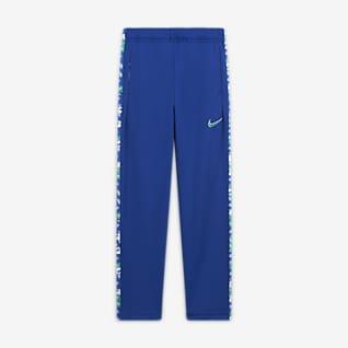 Nike Dri-FIT Pantalones de entrenamiento entallados con estampado para niños talla grande
