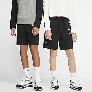 Nike Sportswear Spodenki z dzianiny dla dużych dzieci