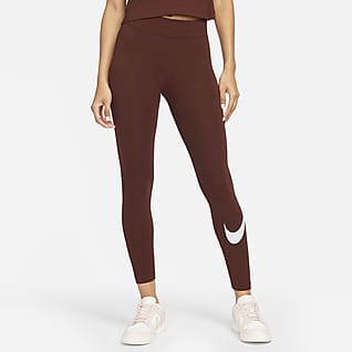 Nike Sportswear Essential Legging met halfhoge taille en Swoosh voor dames