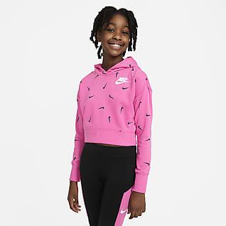 Nike Sportswear Sudadera con capucha corta de tejido French Terry - Niña