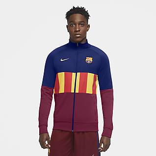 FC Barcelona Chamarra de entrenamiento de fútbol para hombre