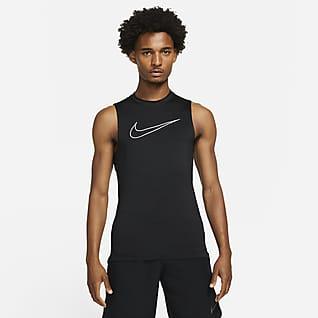 Nike Pro Dri-FIT Tætsiddende overdel uden ærmer til mænd