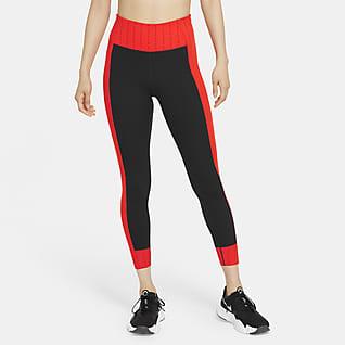 Nike Dri-FIT One Luxe Icon Clash 女款中腰九分內搭褲