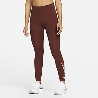 Nike Dri-FIT Swoosh Run Løbeleggings i 7/8-længde med mellemhøj talje til kvinder