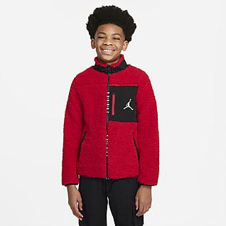 Jordan Hosszú cipzáras kabát nagyobb gyerekeknek (fiúknak)