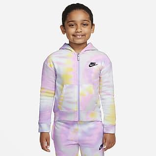 Nike Sportswear Club Fleece Sudadera con gorro de cierre completo para niños talla pequeña