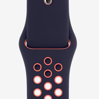 40 mm Blue Black/Bright Mango Corretja Nike Sport Band (normal)