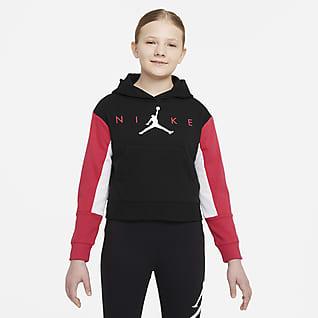 Jordan Sudadera con gorro sin cierre para niña talla grande