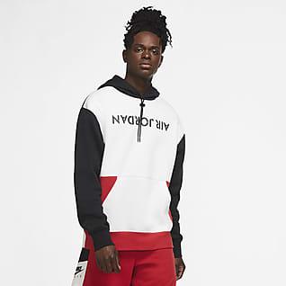 Jordan AJ4 Graphic Hoodie pullover de lã cardada para homem
