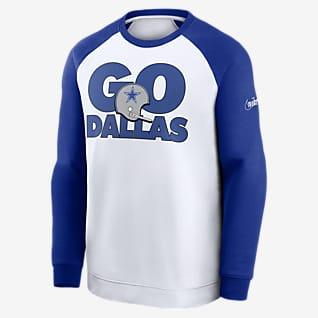 Nike Go Helmet Historic Raglan (NFL Dallas Cowboys) Sweat-shirt pour Homme