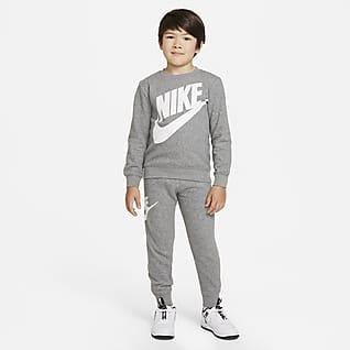 Nike Conjunto de pantalones de entrenamiento y sudadera para niños talla pequeña