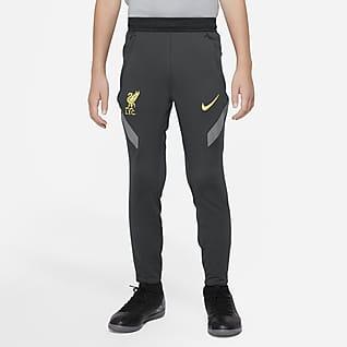 Liverpool FC Strike Spodnie piłkarskie dla dużych dzieci Nike Dri-FIT