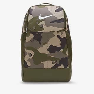 Nike Brasilia Maskáčový tréninkový batoh (velikost M)