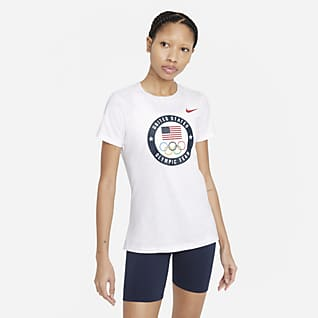 Nike Dri-FIT Team USA Playera de entrenamiento para mujer