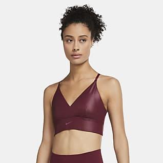 Nike Indy Bra deportivo de baja sujeción de líneas largas acolchado para mujer