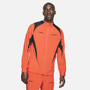 Nike F.C. Vevd fotballjakke til herre