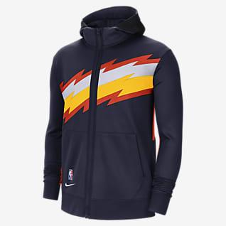 Golden State Warriors Showtime City Edition Nike Therma Flex NBA-hoodie voor heren