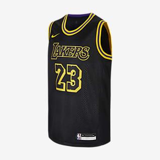 洛杉矶湖人队 (LeBron James) Nike NBA Swingman Jersey 大童(男孩)球衣