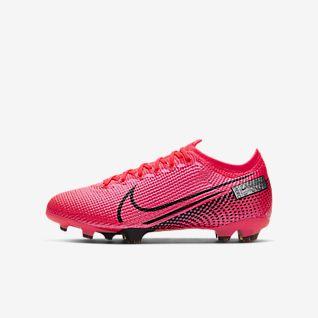 Nike Mercurial Vapor 12 Elite FG Fotbollsskor för Män Vit Orange Grå