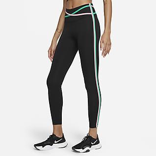 Nike Dri-FIT One 7/8-leggings med kantbånd og mellemhøj talje til kvinder