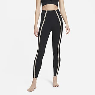 Nike Yoga Luxe Leggings con bolsillo de cintura alta 7/8 con ojal para mujer