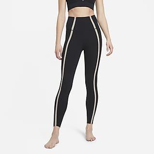 Nike Yoga Luxe 7/8-leggings med snørehuller til kvinder