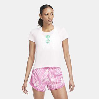 Nike Icon Clash เสื้อวิ่งแขนสั้นผู้หญิง