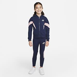 Nike Air Conjunto de sudadera con gorro y leggings para niños talla pequeña