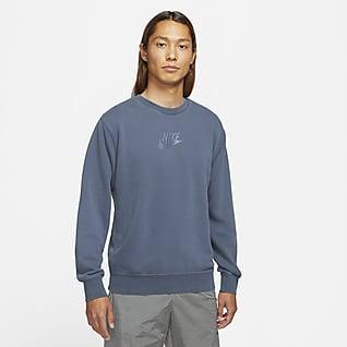Nike Sportswear Essentials+ เสื้อแบบสวมคอกลมผ้าเฟรนช์เทรีผู้ชาย