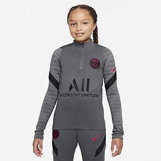 Paris Saint-Germain Strike Nike Dri-FIT-fodboldtræningstrøje til store børn