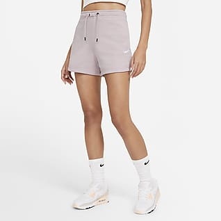 Nike Sportswear Essential Calções em tecido moletão para mulher