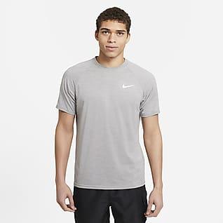 Nike Camiseta Hydroguard de natación de manga corta de tela jaspeada para hombre