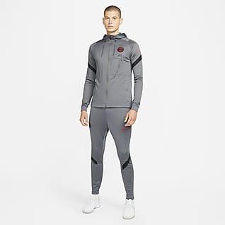 Paris Saint-Germain Strike Męski dzianinowy dres piłkarski Nike Dri-FIT