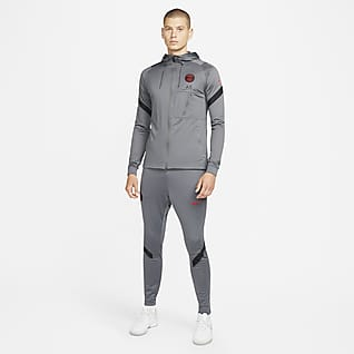Paris Saint-Germain Strike Stickad fotbollstracksuit Nike Dri-FIT för män
