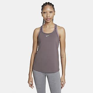 Nike Dri-FIT One Luxe Linne med slimmad passform och tunna band för kvinnor
