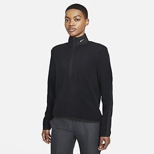Nike Therma-FIT Victory Dámské golfové tričko sdlouhým rukávem a zipem poloviční délky