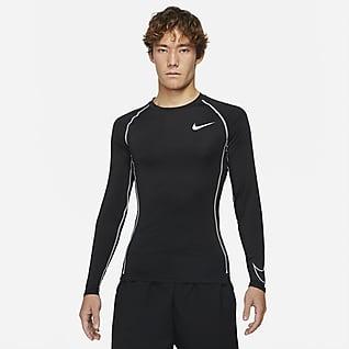 Nike Pro Dri-FIT เสื้อแขนยาวผู้ชายทรงรัดรูป